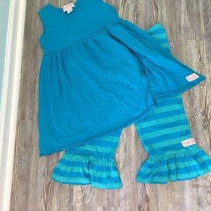 Ruffle girl outfit sz 12